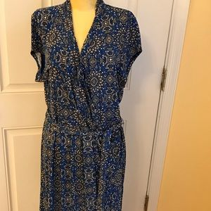 Blue Liz Claiborne dress size XL